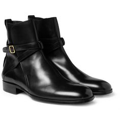 PRODUCT - Alexander McQueen - Leather Buckle Boots - 408574 | MR PORTER
