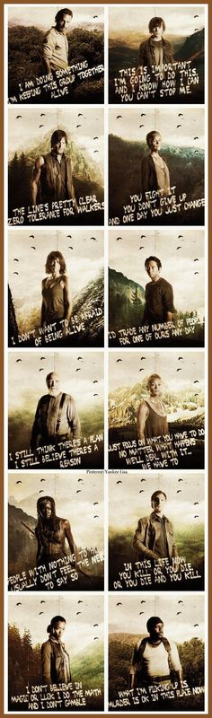 Im crying Hershel is on there and his head was decapitated ugh I hated the govener and now the girls... Mika and Lizzie even though they aren't on the thing im am still upset.