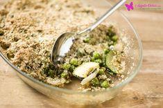 Crumble de curgete e ervilhas com sementes de abóbora - angela oeiras.com