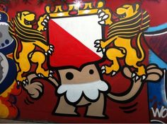 """Street art   Mural """"Coat of arms of the Dutch city and municipality of Utrecht KBTR"""" (Utrecht, Netherlands) by KBTR"""