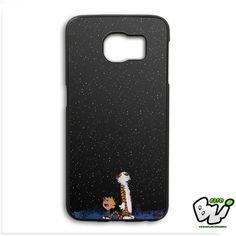 Calvin And Hobes Night Sky Samsung Galaxy S6 Edge Case