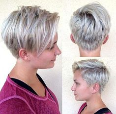 """platinum blonde pixie bob. I love that the name for this cut on the site is """"Shortcut to Sass"""""""