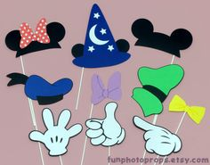 Photo booth Props - 10 piece Mouse and Friends Photobooth Prop Set--- maybe??