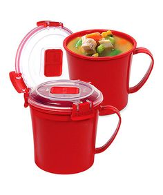 This Red 22-Oz. Soup Mug - Set of Two is perfect! #zulilyfinds