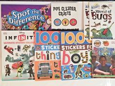 Lot of 8 Activity Craft & Sticker Books Kids Boy Scouts Bugs Disney Infinity DK #kidsbooks #boyscouts #stickerbook #disney #craftbook