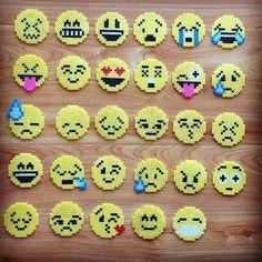 Hama Mini Boncuklarla Emojiler