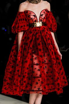 Alexander McQueen Spring 2013 RTW ...This SO reminds me of the Queen of Hearts. :) Love it! :)