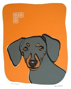 Mischief - a Dachshund in the Dog Series Art Print