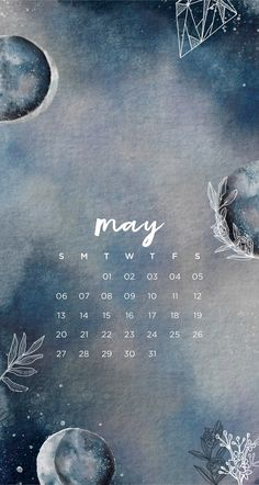 May Calendar Wallpaper iPhone Tumblr Moon Lockscreen Emma's Studyblr