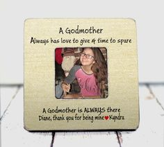 godmother gift best godmother gift Godmother frame custom frame personalized frame custom gift Thank you gift thank you frame wood TPFS