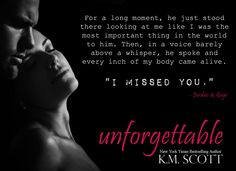 Gage and Jordan's story, a spinoff from the Heart of Stone series, coming October 11, 2015!   Amazon: smarturl.it/Unforgettable1  B&N: smarturl.it/Unforgettable1BN  Kobo: smarturl.it/Unforgettable1Kobo  iBooks: smarturl.it/Unforgettable1iBooks