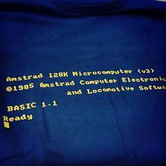 My new #Amstrad #Basic-code tshirt... Too #geek? #retrocomputing