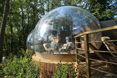 Want a unique short break hotel? Look no further than our Bubble! A luxury romantic retreat, with 180 degree panoramic views. Wild Animal Park, Treehouse Hotel, Sleeping Under The Stars, One With Nature, Short Break, State Art, Stargazing, Places To Go, Beautiful Places