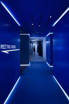 Neons in Google's London office