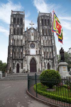 St Joseph's Cathedral in Hanoi, #Vietnam with Tom Harper River Journeys #thrj