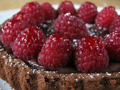 chocolate raspberry tart!