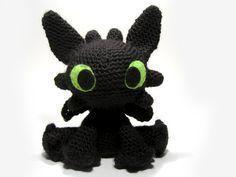 Дракон Беззубик амигуруми