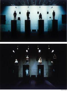 "rufus didwiszus. Schaubuehne am Lehniner Platz set and videoinstallation for ""Crave"" (Sarah Kane) dir.: Thomas Ostermeier European Theatre Prize, prize for best set Torun festival (Poland)"