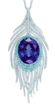 Tiffany & Co Tanzanite peacock pendant... oooooooooohhh wow. I think i would cry if I actually got this, its gorgeous!