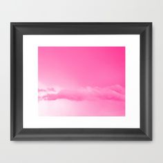 Pink Cotton Candy Clouds Framed Art Print