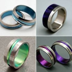 Mood Ring Chart Blue Gold Wedding Rings Chic Bands
