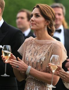 Duchess Kate: Kate Brings Back Favourite Jenny Packham Gown for A Taste of Norfolk at Houghton Hall - June 22, 2016