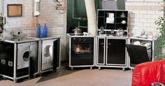 pro-art kitcase Kofferküche mit Kühlschrank - Weiß