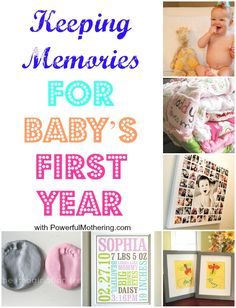 Explore a few awesome ideas for Keeping Memories for Baby's First Year! So many fun craft and DIY ideas. Babies First Year, 1st Year, Baby Memories, Baby Keepsake, Baby Must Haves, Baby Scrapbook, 1st Birthdays, Baby Play, Baby Crafts