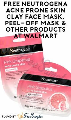 2 FREE Neutrogena Acne Prone Skin Clay Face Mask, Peel-Off Mask & Other Products At Walmart (Coupon Required - Free Stuff, Coupons & Offers - Skin Care Face Mask Peel Off, Acne Face Mask, Clay Face Mask, Face Skin, Peel Off Maske, Skin Peeling On Face, Face Mask For Spots, Pore Mask, Avocado Face Mask