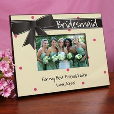 Personalized Bridesmaid Printed Picture Frame - Gifts Happen Here - 1