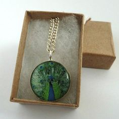 Peacock Resin Pendant Necklace £3.50
