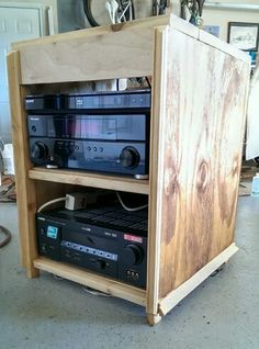 Outdoor theatre media cabinet rev 1. Added stain on the sides that was with espresso grounds some trim pieces on the front and a receiver with HDMI and ... & Built a cabinet tonight to house my outdoor theater components. The ...