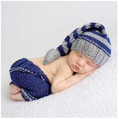 Space PH Newborn Baby Girl Boy Crochet Sweater Long Tail Hat Photographed Clothing Photography Prop Outfit Set *** See this great product. (This is an affiliate link) #CrochetBabySweater