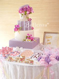 """""""Love is Sweet"""" or candyland theme - in lilac and pink"""