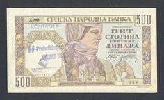 SERBIA * 500 Dinara1941 aUNC *WWII - RARE OVERPRINT. ''SS DIVISION PRINZ EUGEN- WERSETZ''  http://www.ebay.com/itm/SERBIA-500-Dinara1941-aUNC-WWII-RARE-OVPT-SS-DIVISION-PRINZ-EUGEN-WERSETZ-/160955481706?pt=Paper_Money=item2579b1be6a