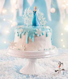 Eisköniginnen Geburtstagstorte zum selber zubereiten und dekorieren