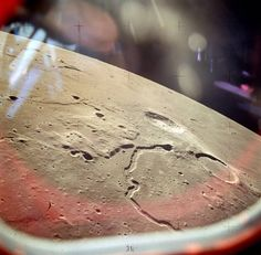 Looking out the window of the Apollo 15 lunar module, August 2, 1971