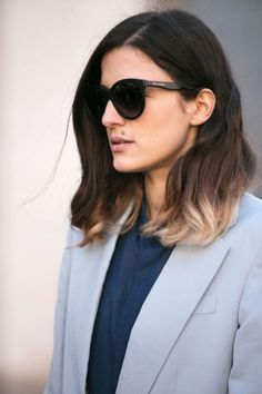 Adore her ombre strands- very urban chic.