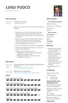 Financial Controller Resume Template Premium Resume Samples