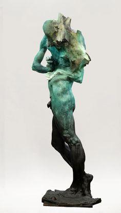 Grzegorz Gwiazda Horse Sculpture, Sculpture Clay, Wooden Sculptures, Modelos 3d, Contemporary Sculpture, Figurative Art, Metal Art, Les Oeuvres, Sculpting
