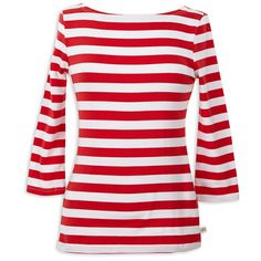 Ladies Red Stripe Boatneck Top – Lolly Wolly Doodle