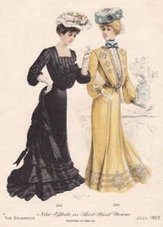 Edwardian fashion plate
