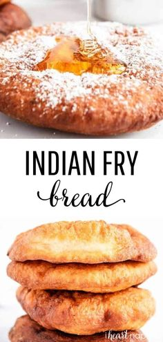 This Indian fry bread is deep fried until golden brown and then served as savory or sweet. Perfectly crispy and bubbly on the outside, while soft and chewy on the inside. food recipes EASY Fry Bread Recipe - I Heart Naptime Indian Bread Recipes, Mexican Food Recipes, Dessert Recipes, Native American Fried Bread Recipe, Easy Indian Fry Bread Recipe, Native Fry Bread Recipe, Cherokee Fry Bread Recipe, Easy Fry Bread Recipe, Easy Bread
