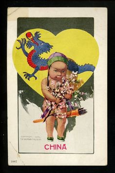 Artist Signed Vintage Postcard Twelvetrees Nat'l Cupids Ullman #75 China Dragon