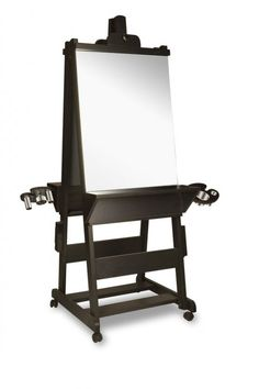 Collins Veeco JB-9525 Double Easel Styling Station with Ledge in Black
