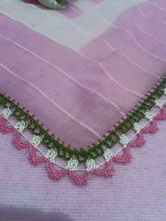 Crochet Borders, Crochet Lace, Crochet Patterns, Embroidery On Clothes, Crochet Necklace, Projects To Try, Blog, Pink, Design