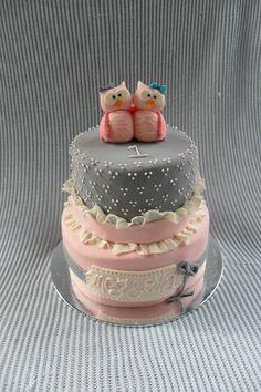 by theonlynameleft Pink Hoot Owl Cake Owl Cake — Children's Birthday Cakes party Girl Boys Kid Kids