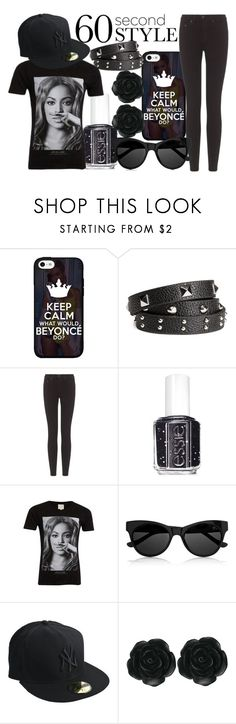 """""""Beyonce/Jay-z concert contest"""" by j-n-a ❤ liked on Polyvore featuring H&M, rag & bone, Essie, ElevenParis, The Row, New Era, Dollydagger and crazyinlove"""
