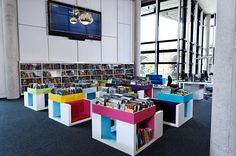 The fabulous children's library at The Hive from our Menor furniture range