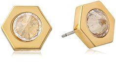 Rachel Zoe Clear Cleo Large Pyramid Stud Earrings - http://www.sparklingheaven.com/rachel-zoe-jewelry/rachel-zoe-clear-cleo-large-pyramid-stud-earrings/